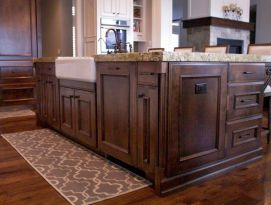 Large kitchen island with farm sink