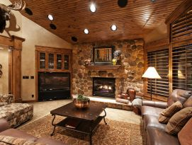 Cozy cabin family room